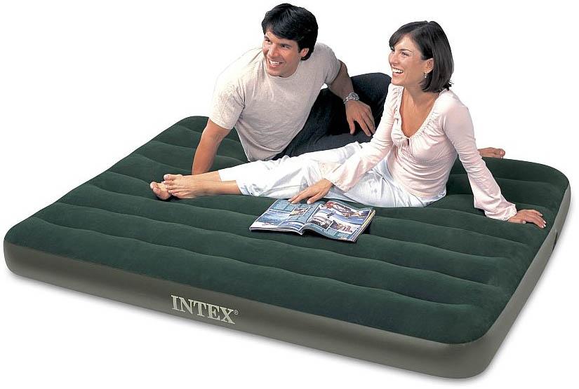 64408 intex надувной матрас-кровать надувной матрас classic downy 76х191х22 см купить