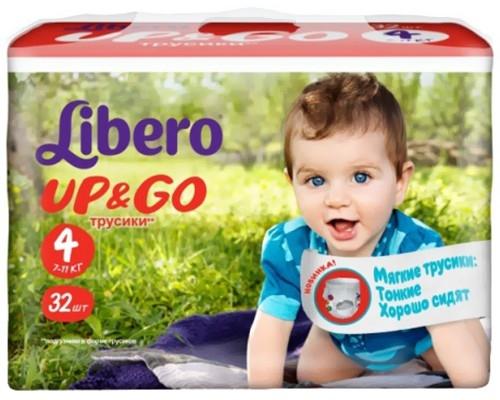 7139a08de526 Подгузники-трусики Libero Up Go Maxi 4 32шт, купить в Минске в ...