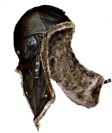 Шлем летный 30-х г. овчина серая / кожа черная XXL - купить в Москве: цена, фото - интернет-магазин Подари Хит.